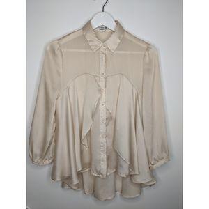 Silk Style Flare Blouse
